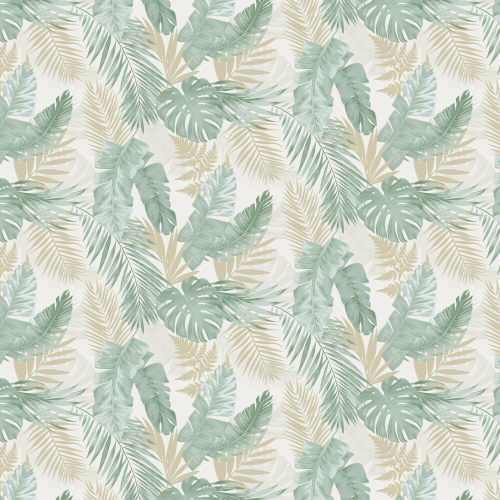 Soft Tropical Wallpaper - Green - by Arthouse