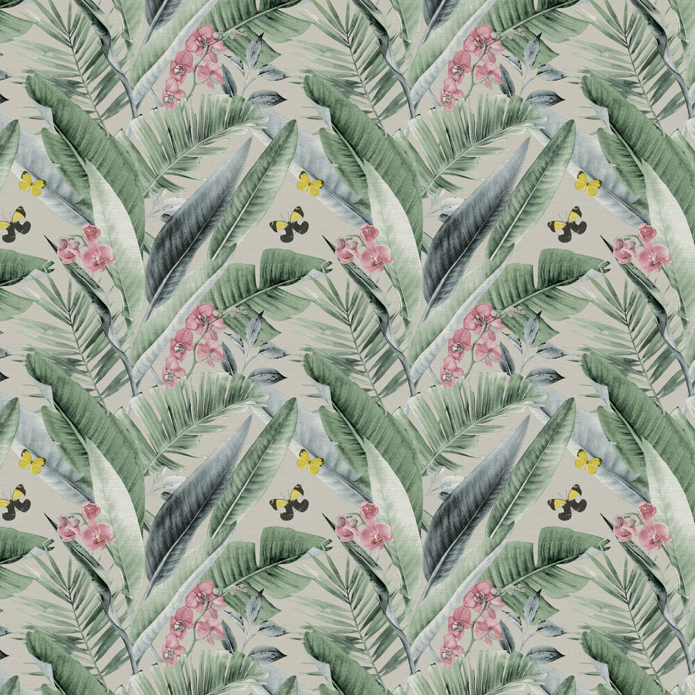 Lush Tropical  Wallpaper - Multi - by Arthouse