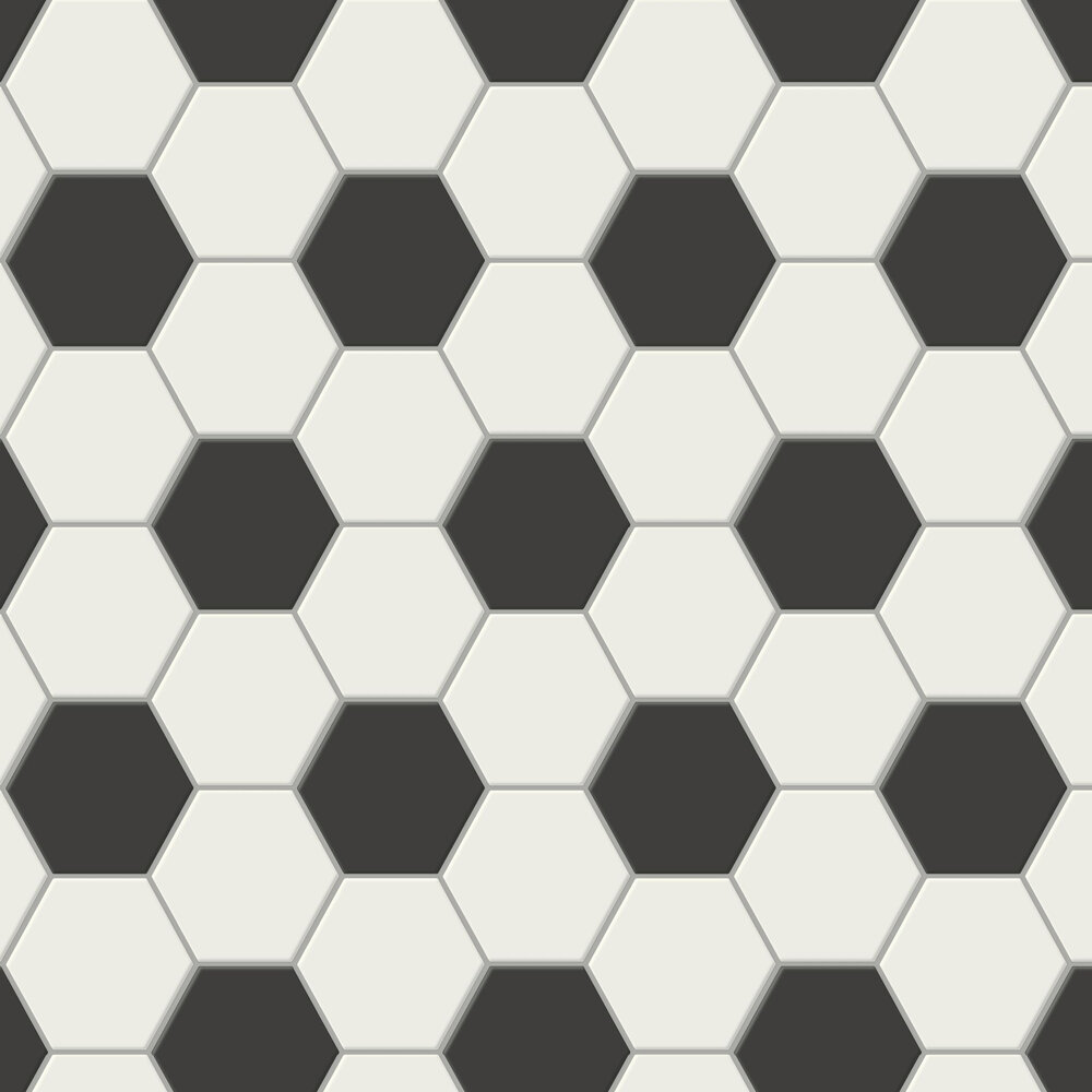 Football Goal  Wallpaper - Mono - by Arthouse