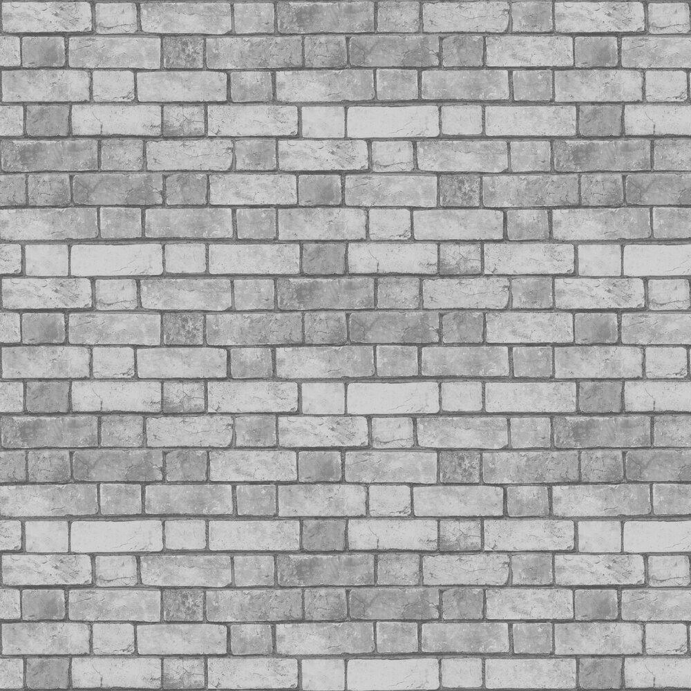 Brickwork  Wallpaper - Grey - by Arthouse