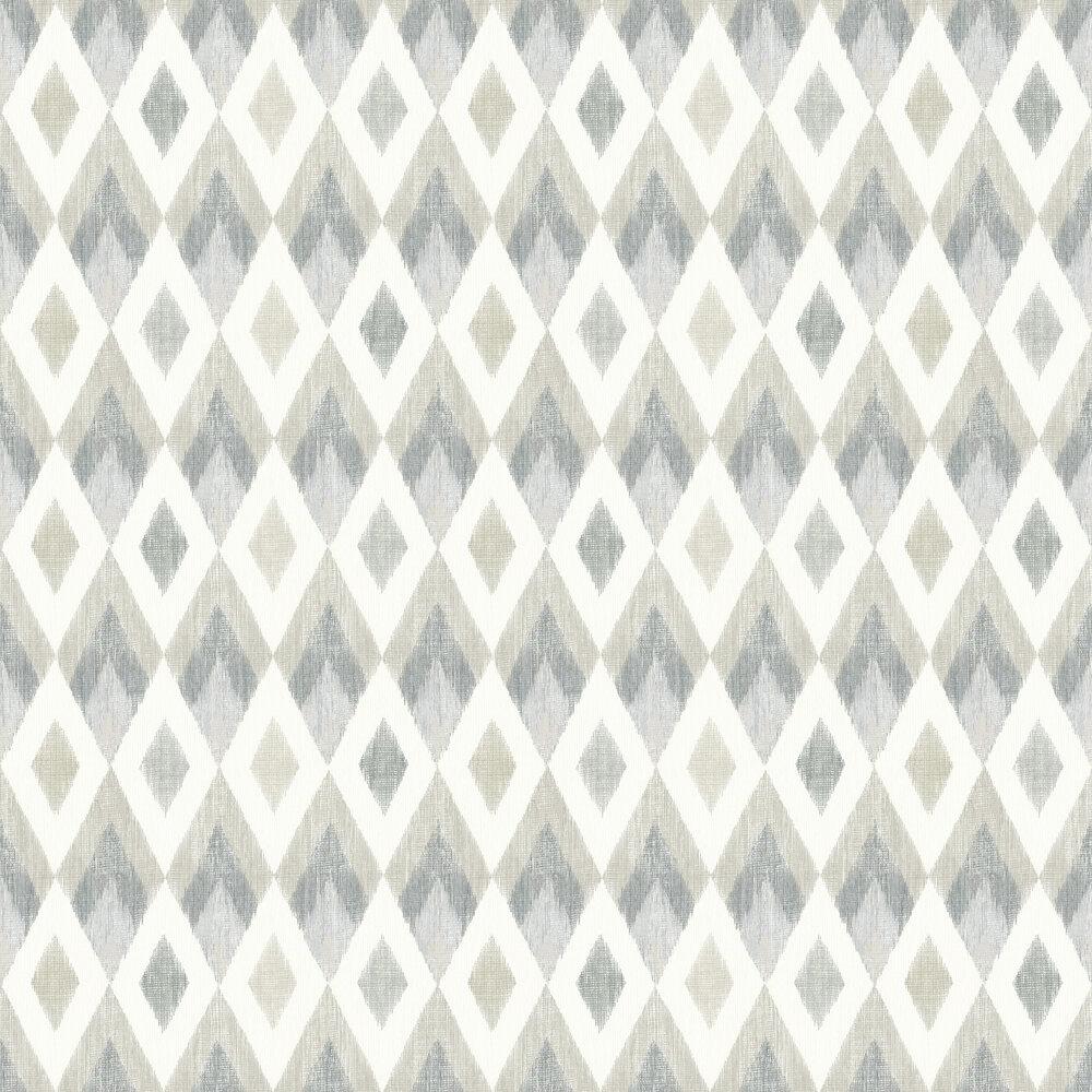 Scandi Diamond Wallpaper - Silver - by Arthouse