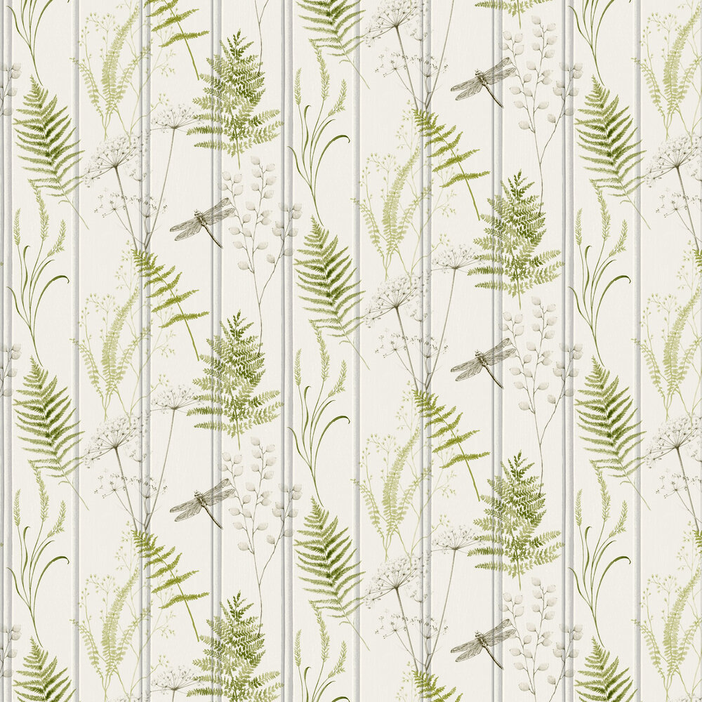 Nature Panel Wallpaper - Green - by Arthouse