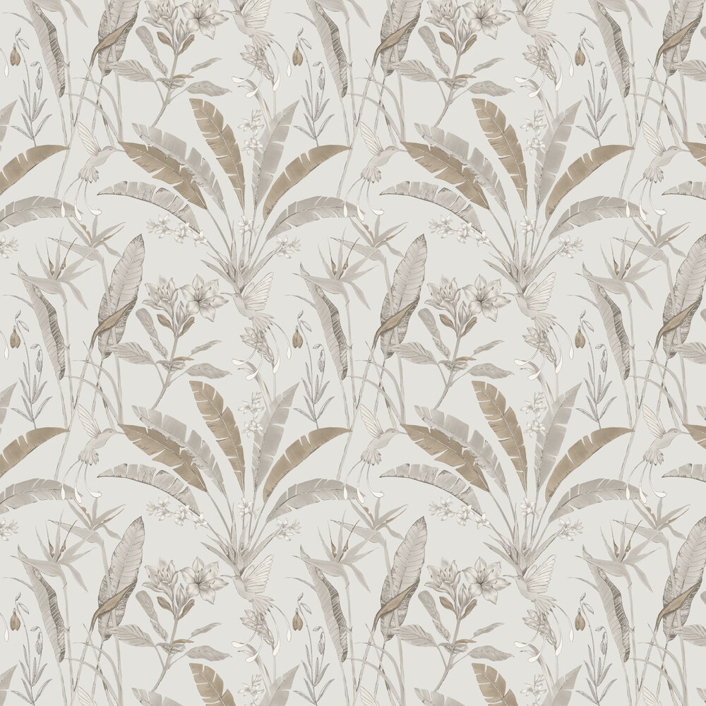 Floral Jungle Wallpaper - Neutral   - by Arthouse