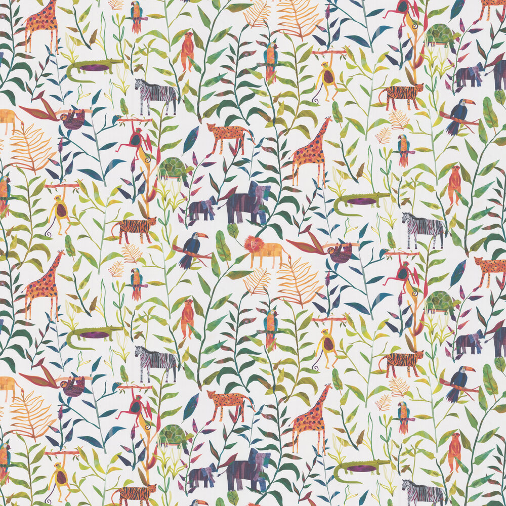 Peek A Boo Wallpaper - Jungle - by Prestigious