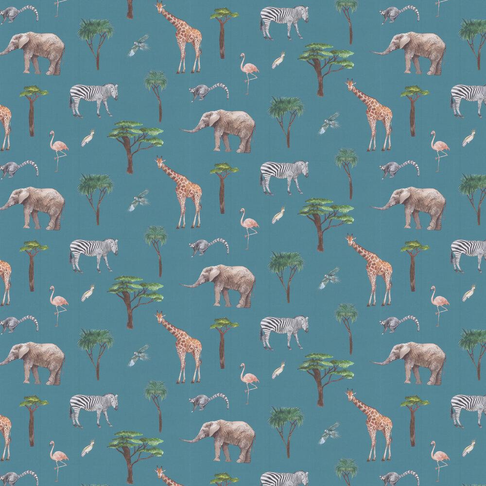 Safari Park Wallpaper - Reef - by Prestigious