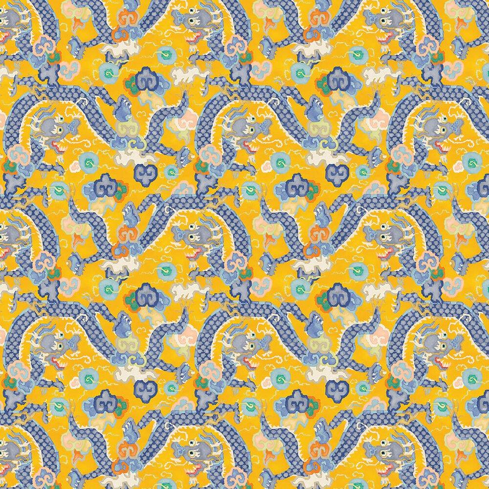 Double Dragon  Wallpaper - Mango - by Linwood