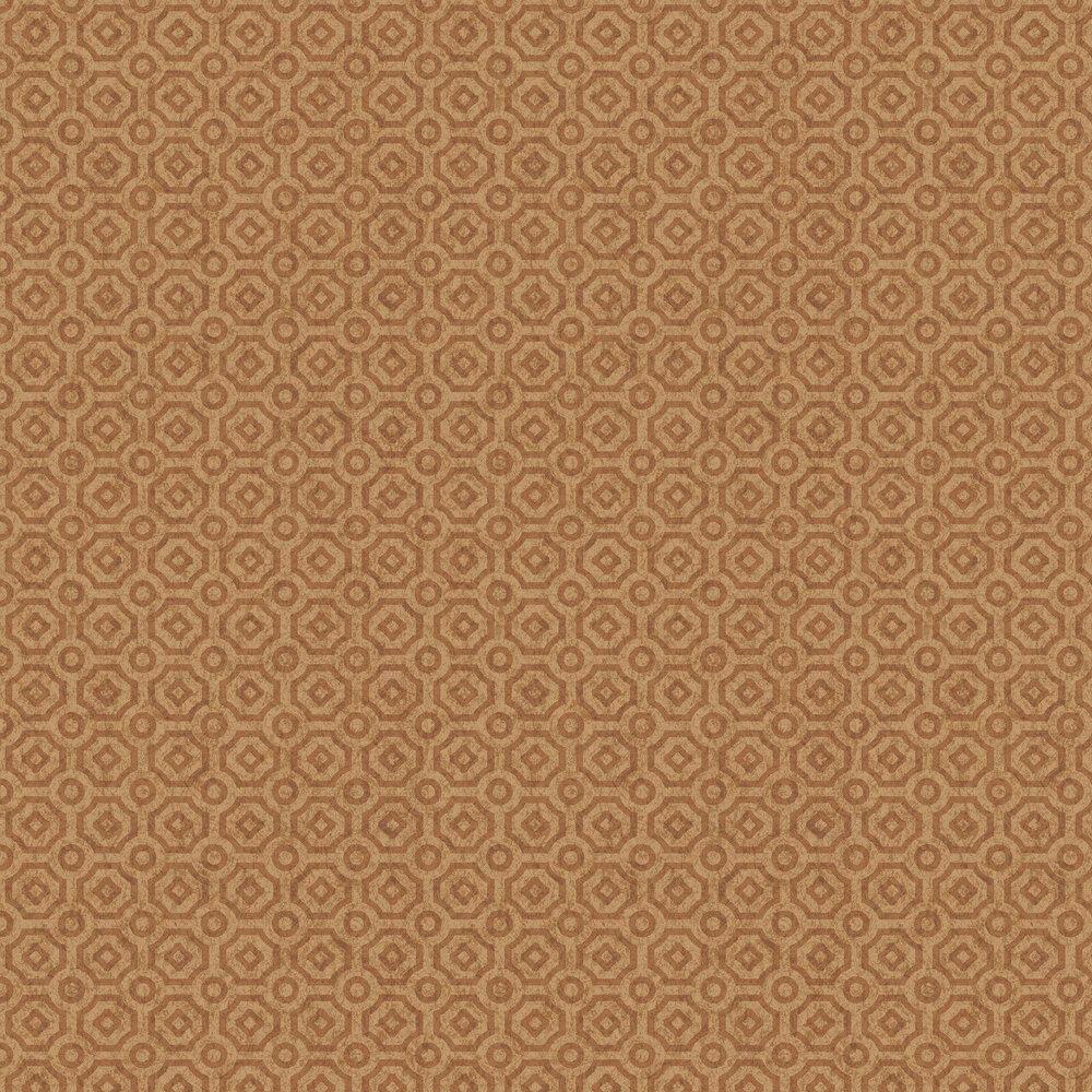 Queen's Quarter Wallpaper - Metallic Copper - by Cole & Son
