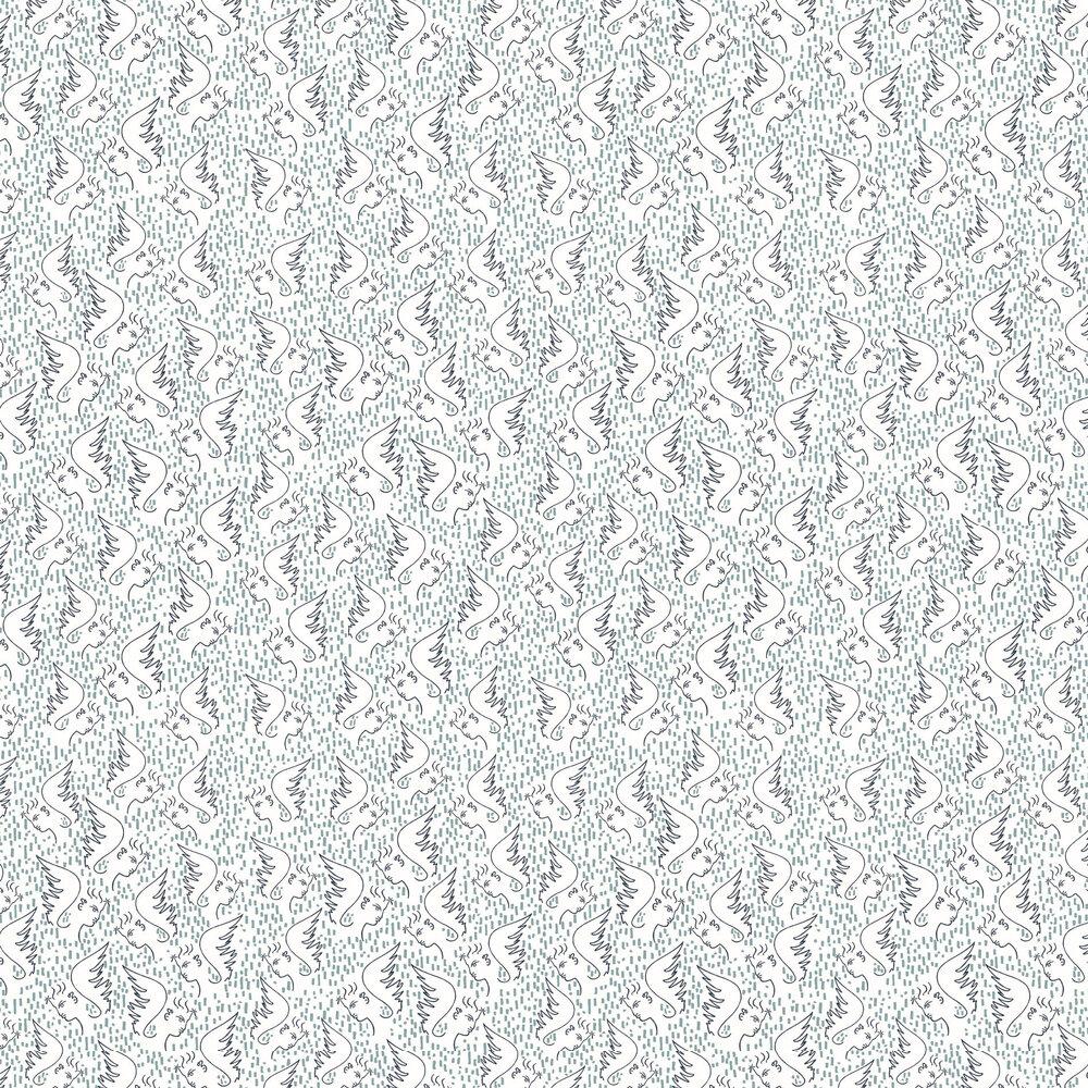 Figure D'Ange Wallpaper - Bleu - by Lelievre
