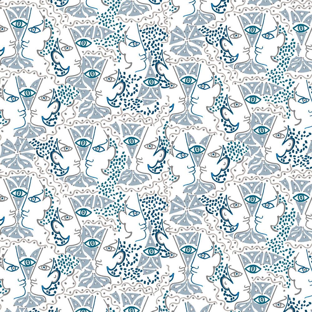 Union Wallpaper - Azur - by Lelievre