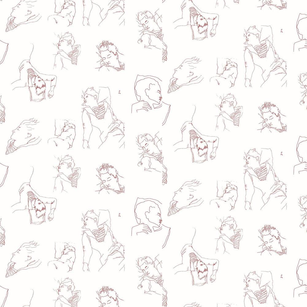 Les Dormeurs Wallpaper - Bordeaux - by Lelievre