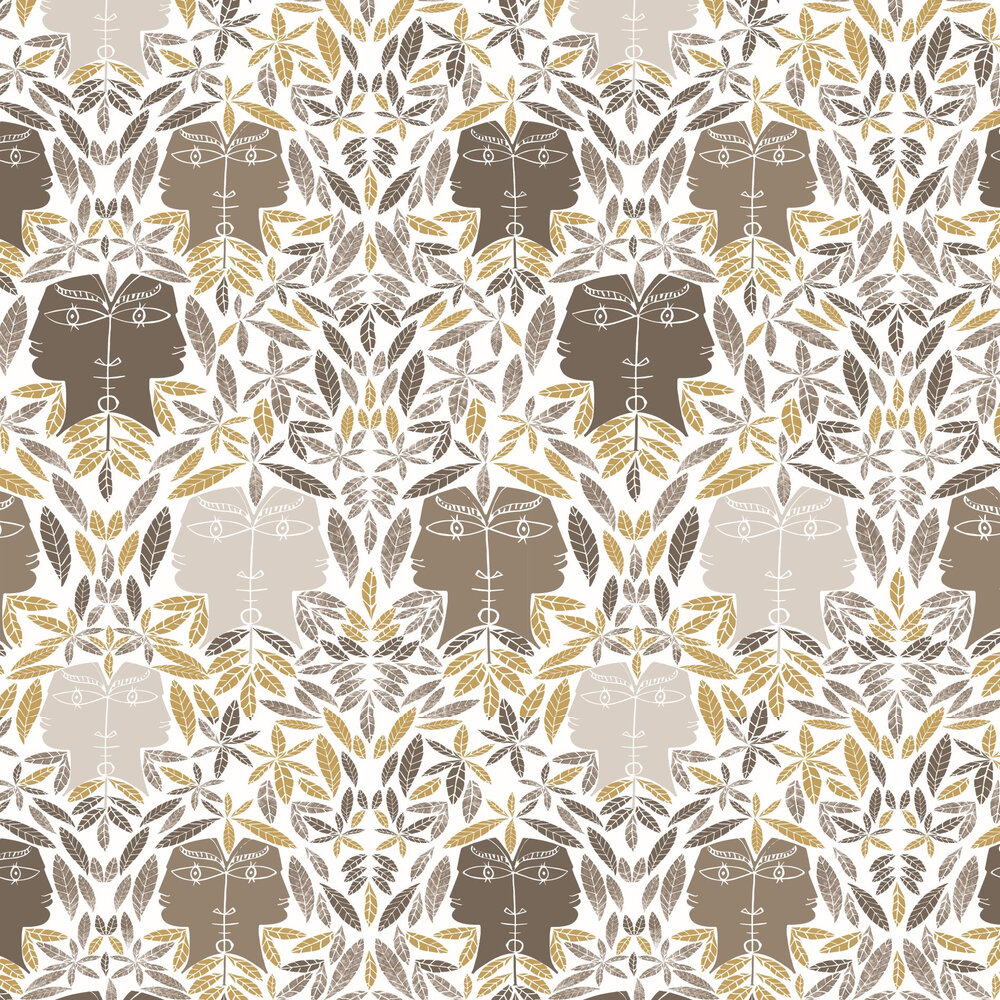 Cap D'Ail Wallpaper - Taupe - by Lelievre