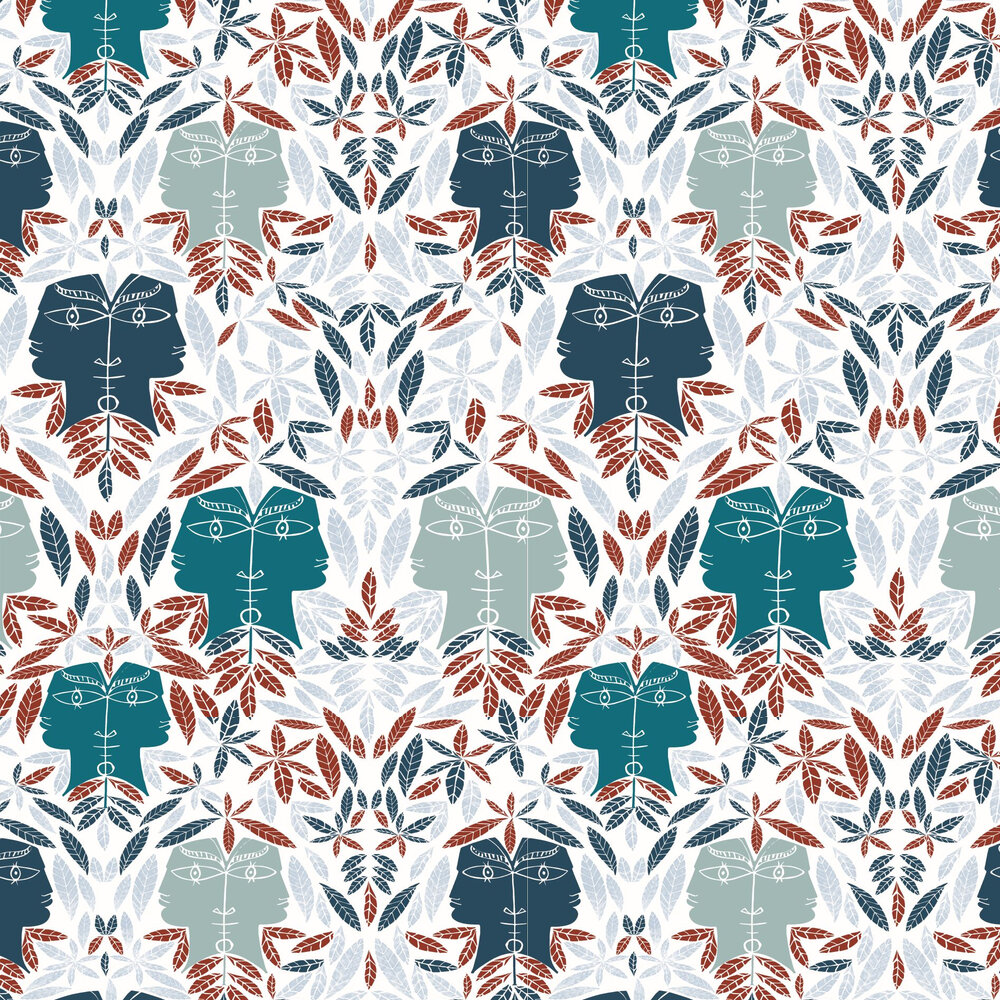 Cap D'Ail Wallpaper - Bleu - by Lelievre