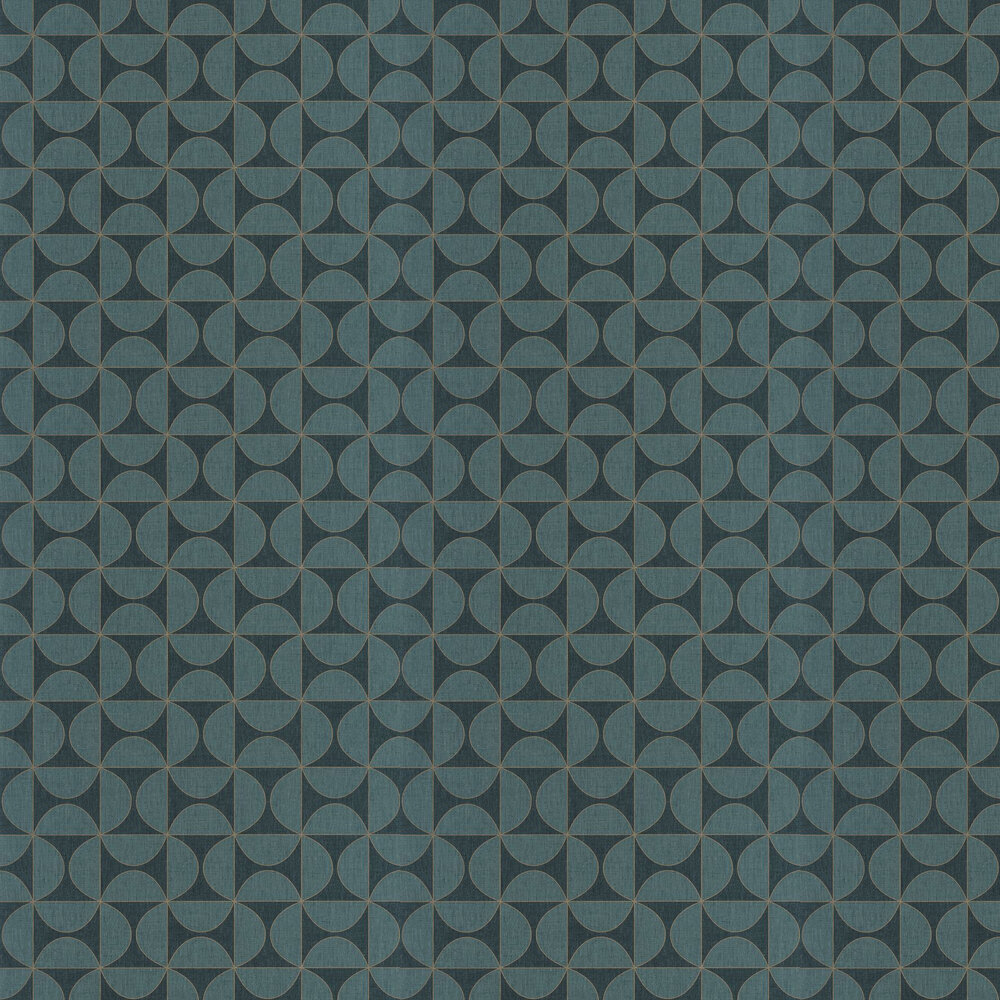 Tam Tam Wallpaper - Teal - by Caselio
