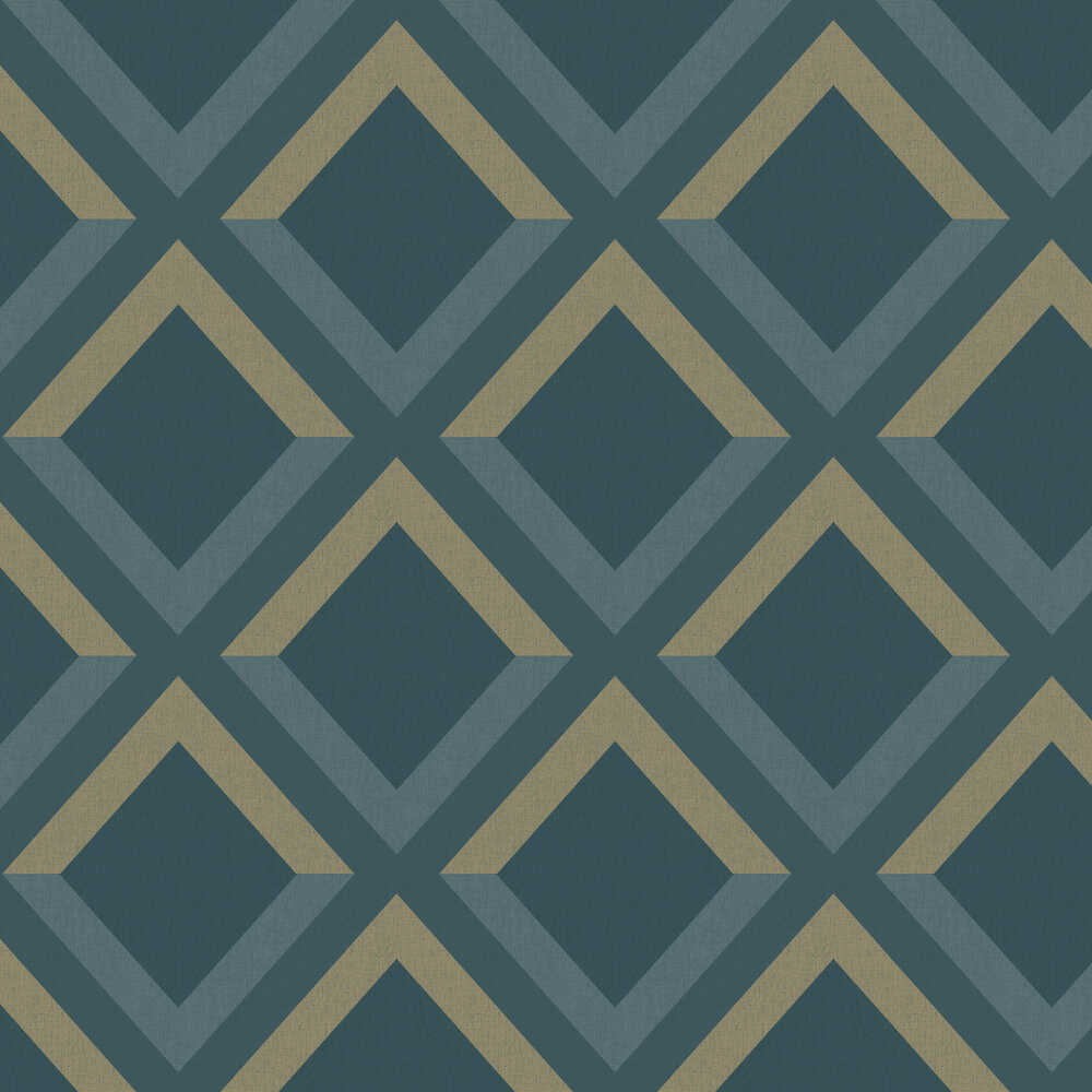 Groove Wallpaper - Navy - by Caselio