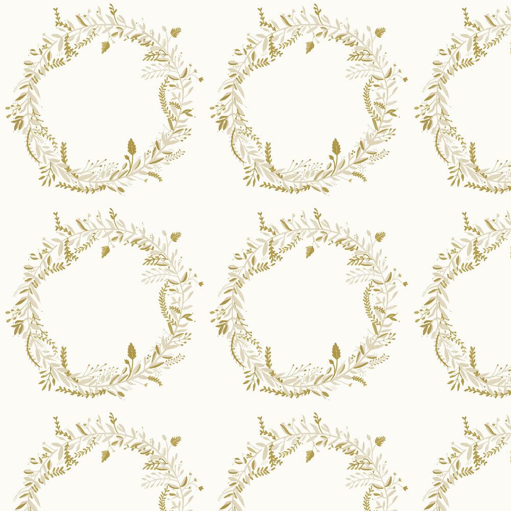 Harmony Wallpaper - White - by Caselio