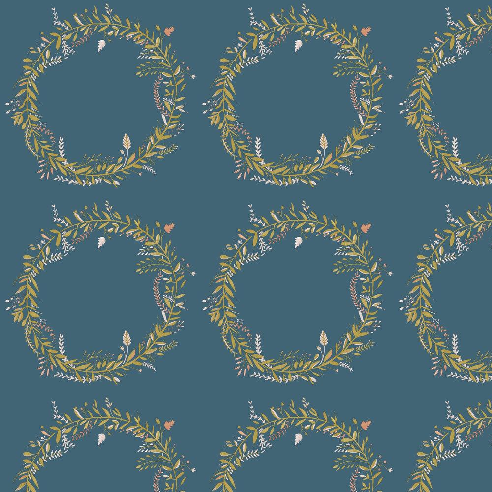 Harmony Wallpaper - Aqua - by Caselio
