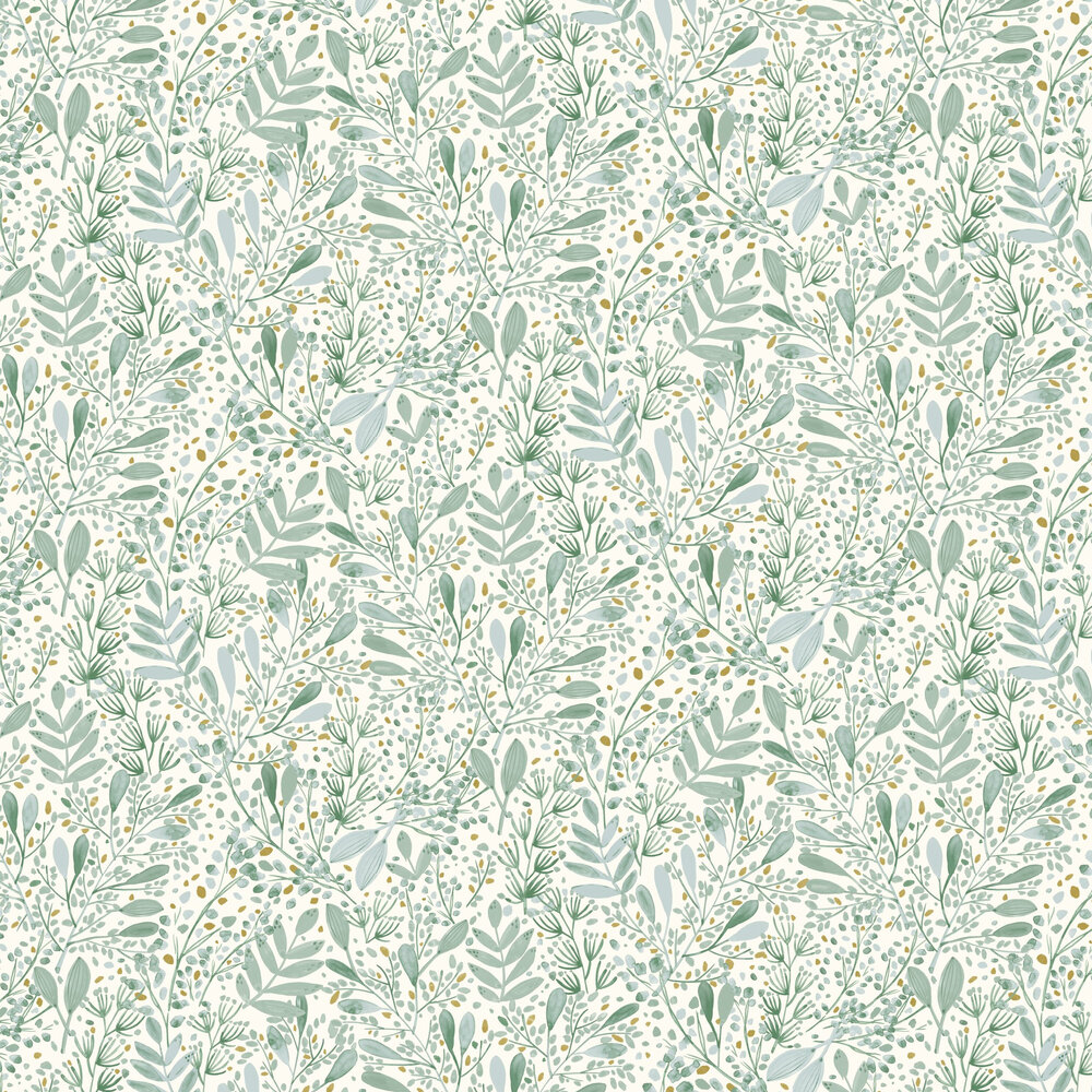 Joy Wallpaper - Duck Egg - by Caselio