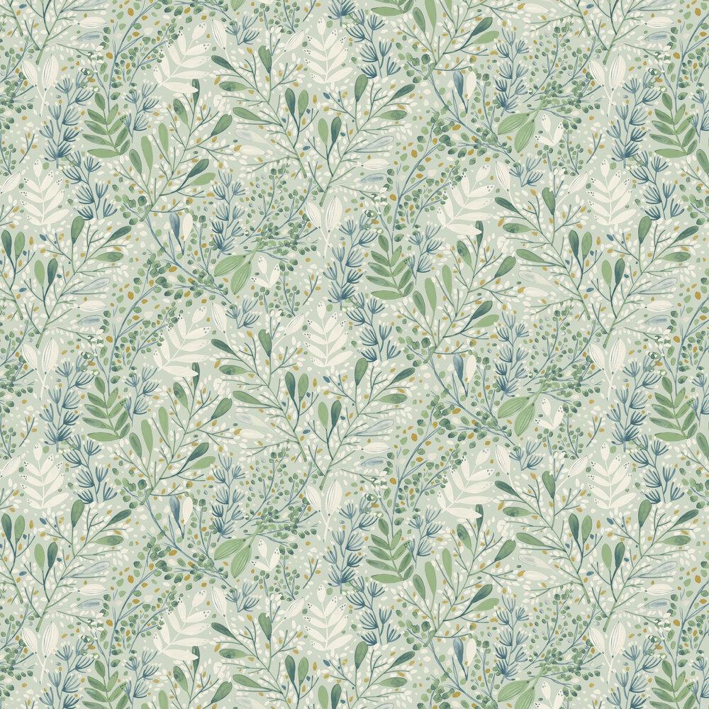 Joy Wallpaper - Green - by Caselio