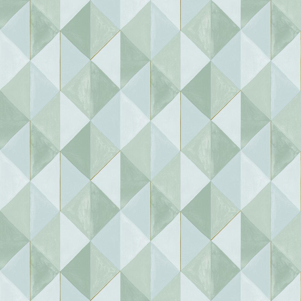 Plentitude Wallpaper - Duck Egg - by Caselio