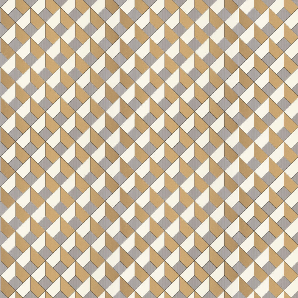 Square Wallpaper - Ochre - by Caselio
