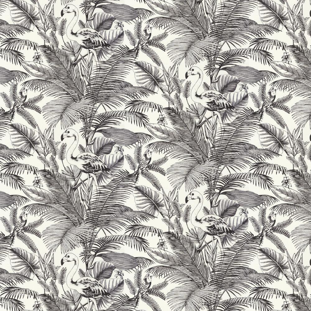 Tropical World Wallpaper - Mono - by Caselio