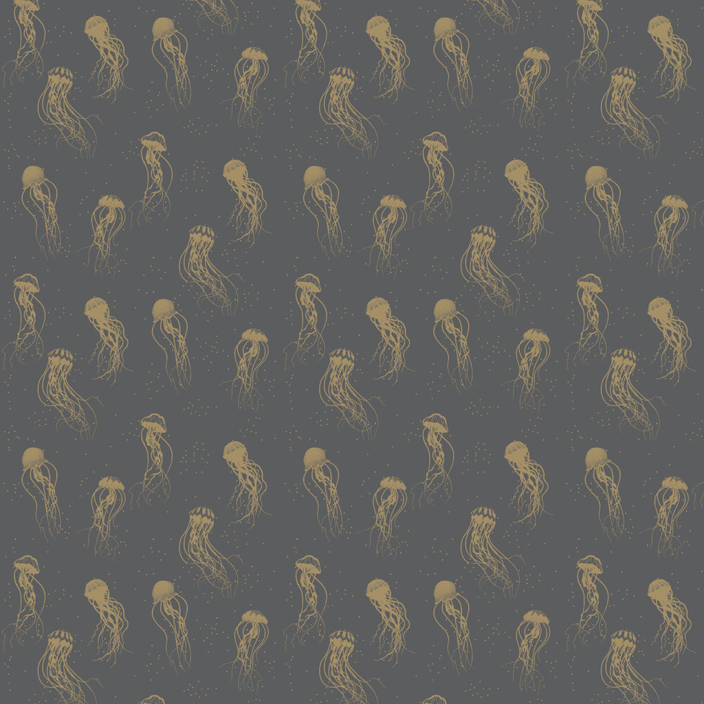 Jellyfish Dance Wallpaper - Charcoal - by Caselio