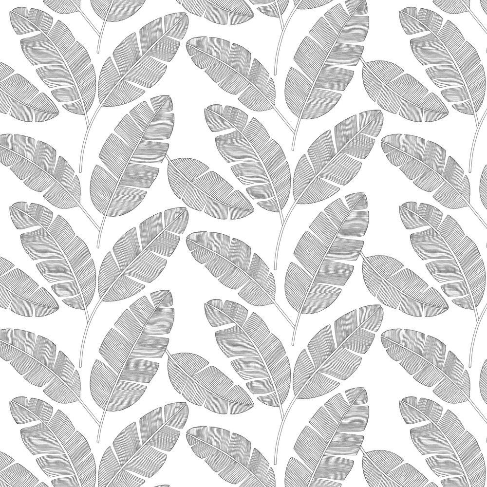 Banana Tree Wallpaper - Mono - by Caselio