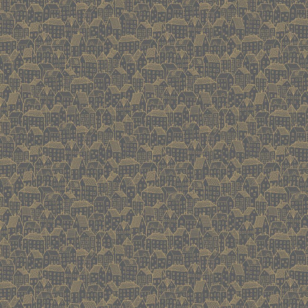 Wonderland Wallpaper - Charcoal - by Caselio