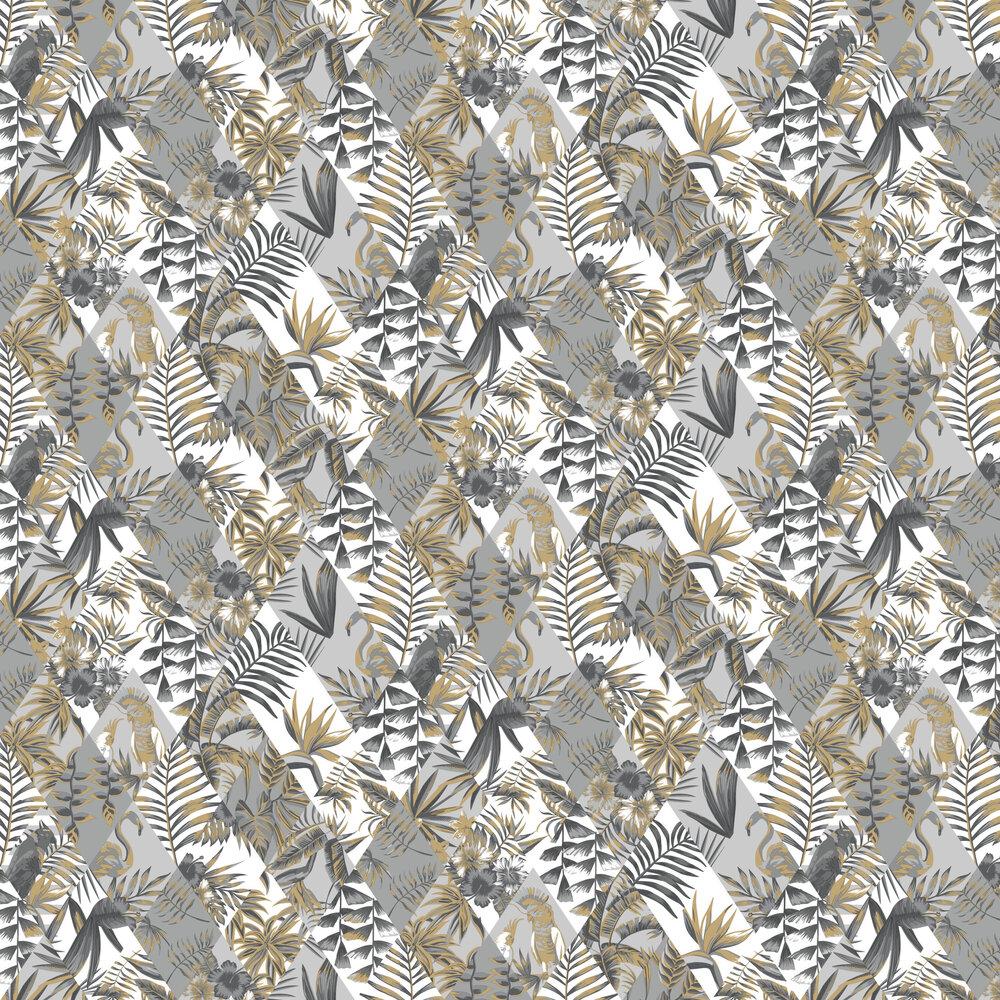 Paradise Wallpaper - Grey - by Caselio
