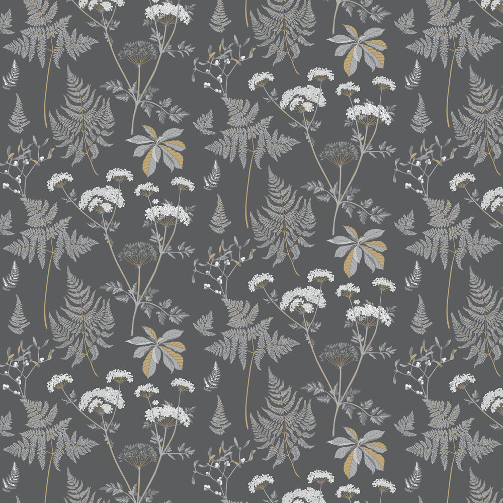 Countryside Wallpaper - Charcoal - by Caselio