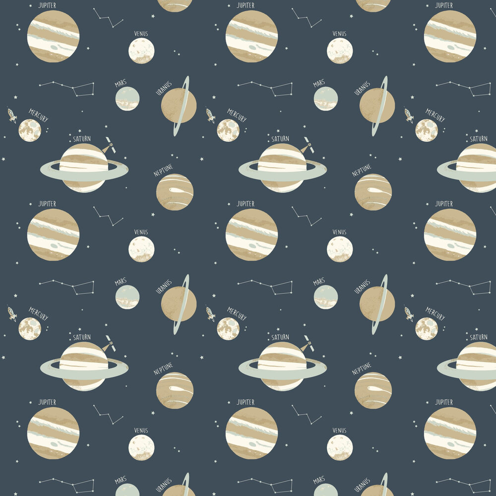 Universe Wallpaper - Navy - by Caselio