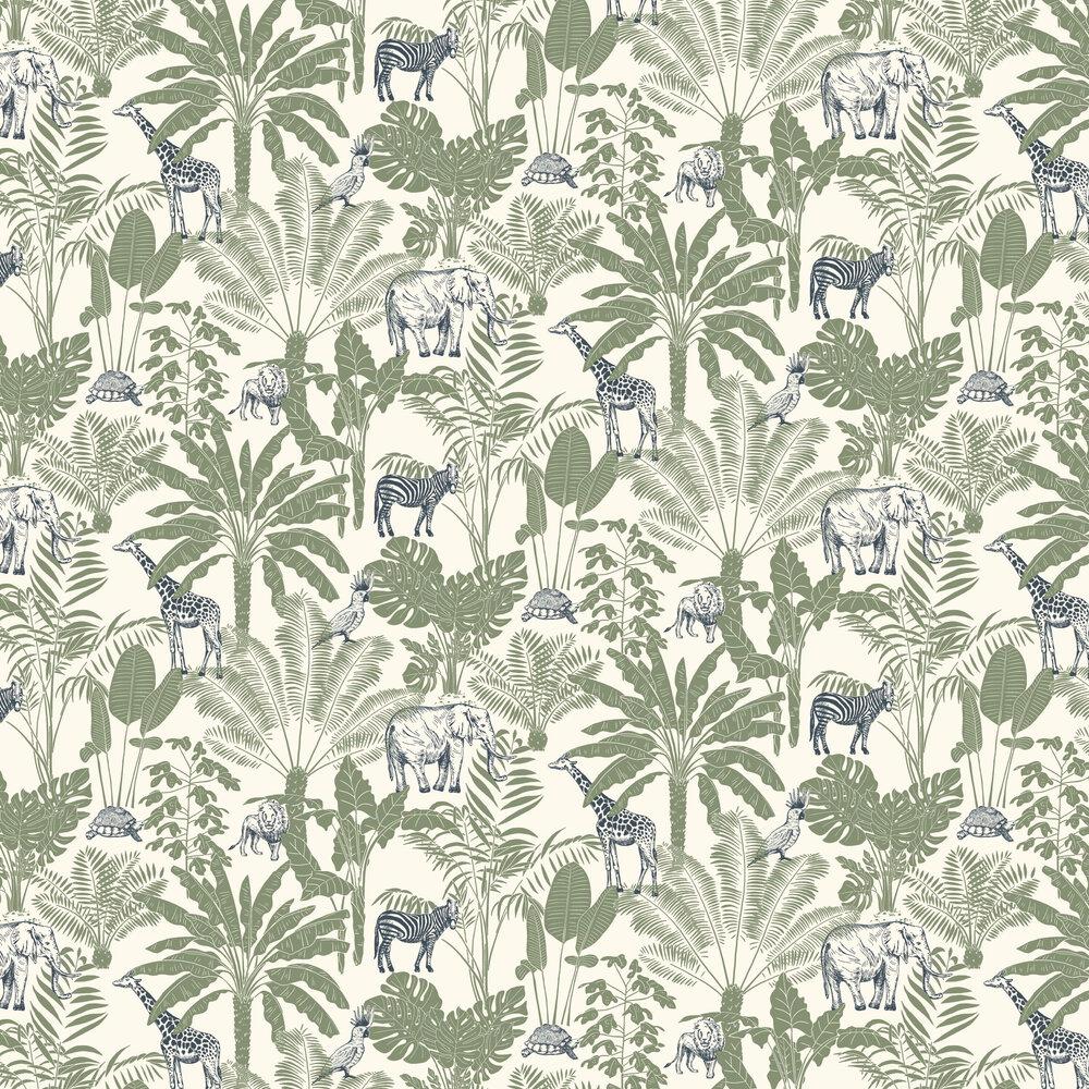 Jungle Trip Wallpaper - Green - by Caselio