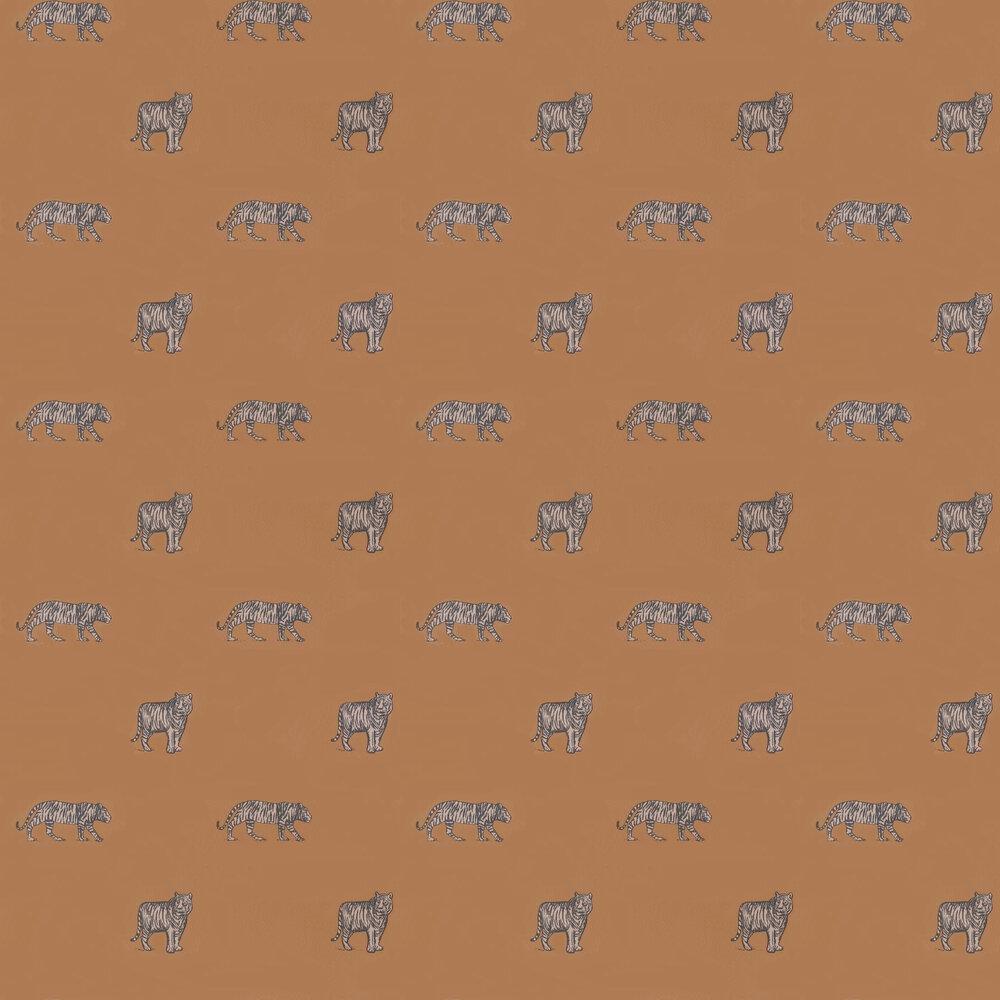 Eye Of The Tiger Wallpaper - Orange - by Caselio