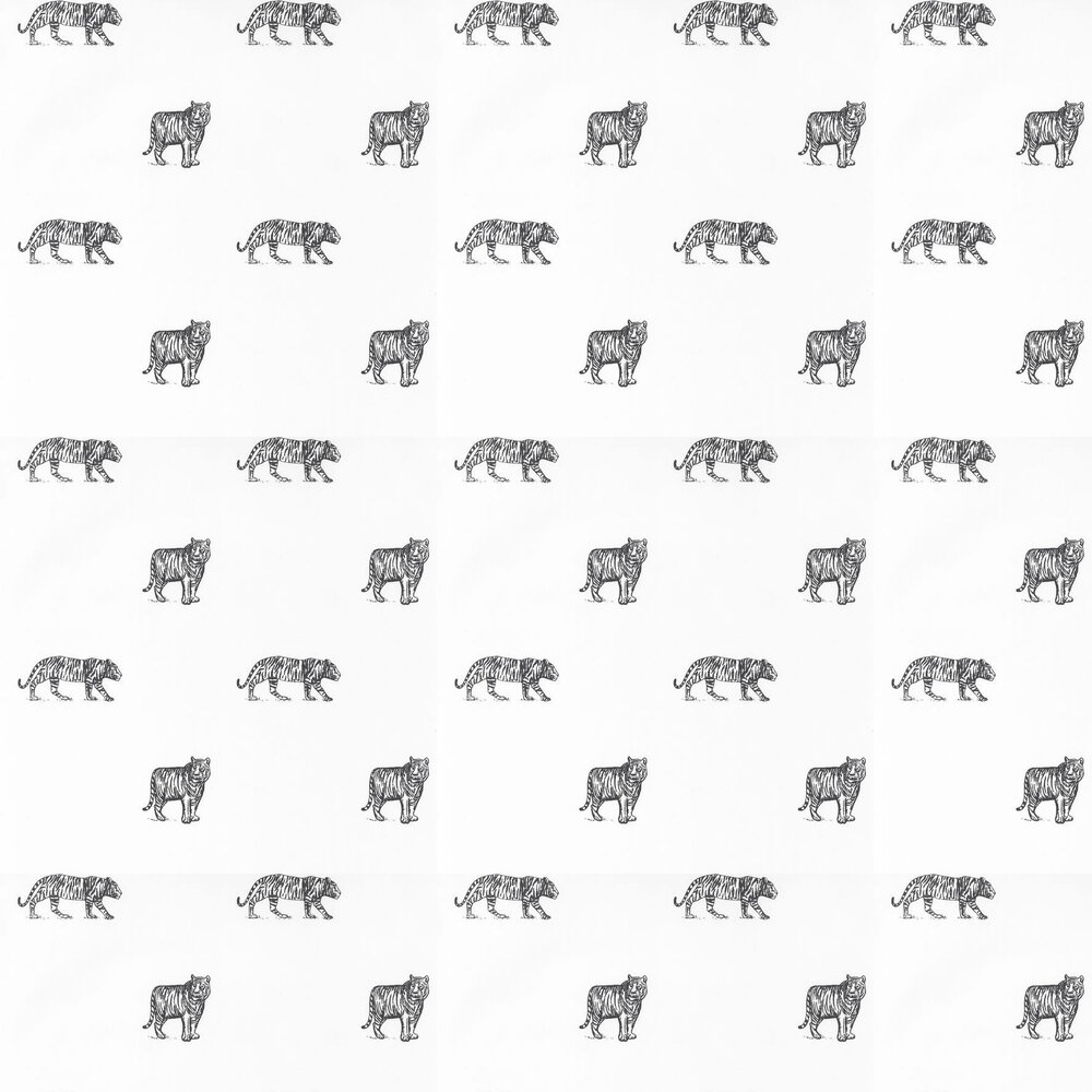 Eye Of The Tiger Wallpaper - White - by Caselio