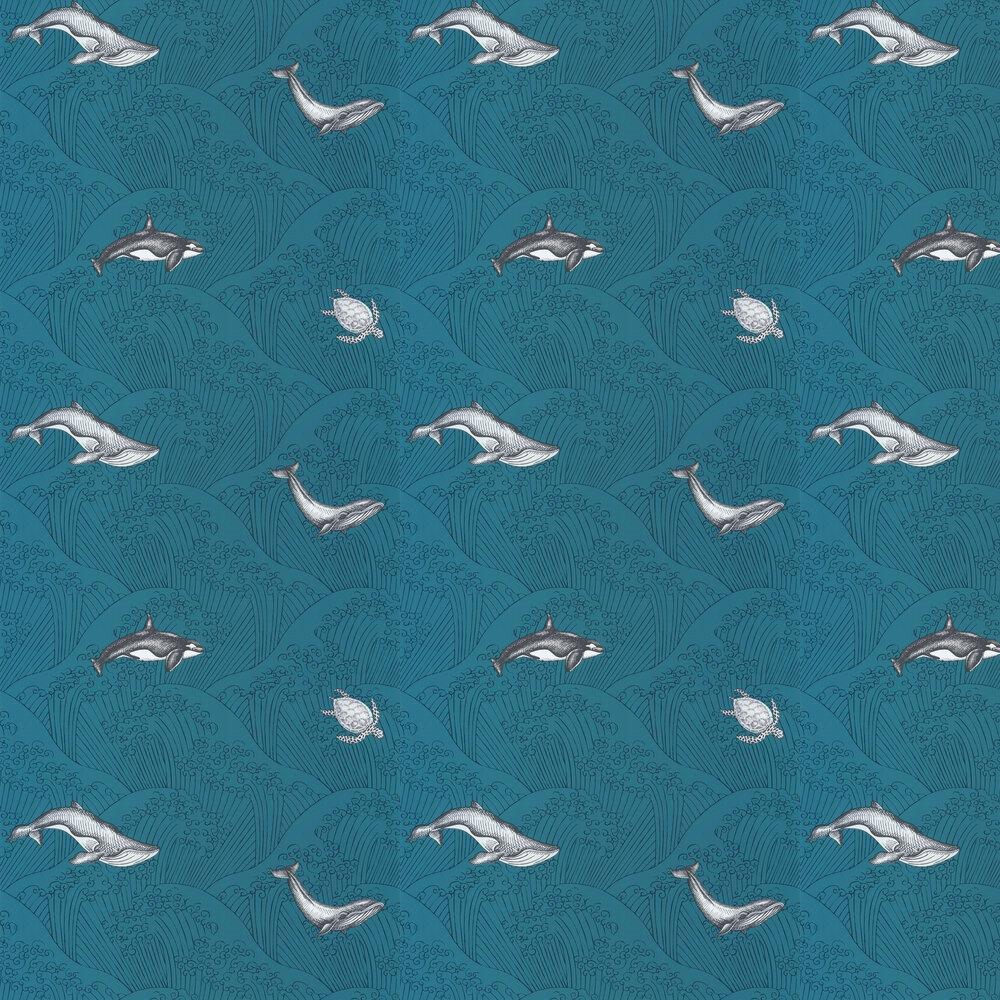 Under The Sea Wallpaper - Aqua - by Caselio