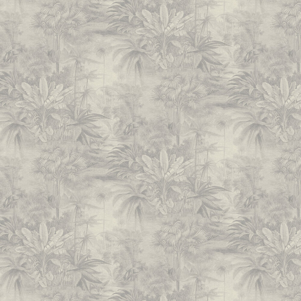 Jungle Scene Wallpaper - Taupe - by Albany