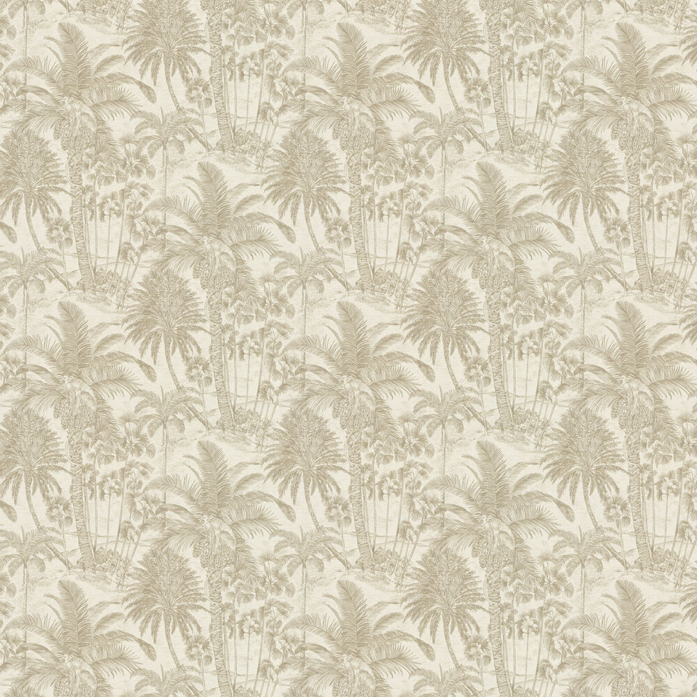 Rustic Jungle Wallpaper - Gold - by Albany