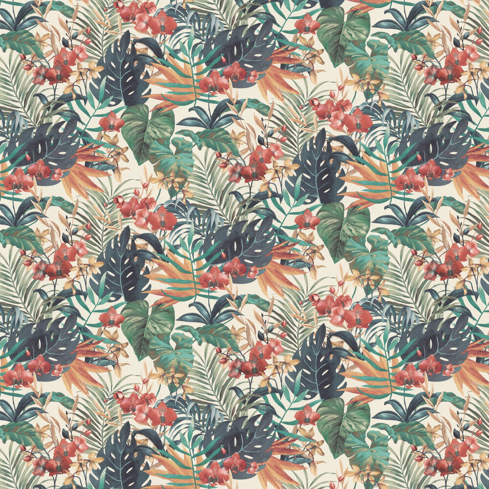 Floral Jungle Wallpaper - Multi - by Albany