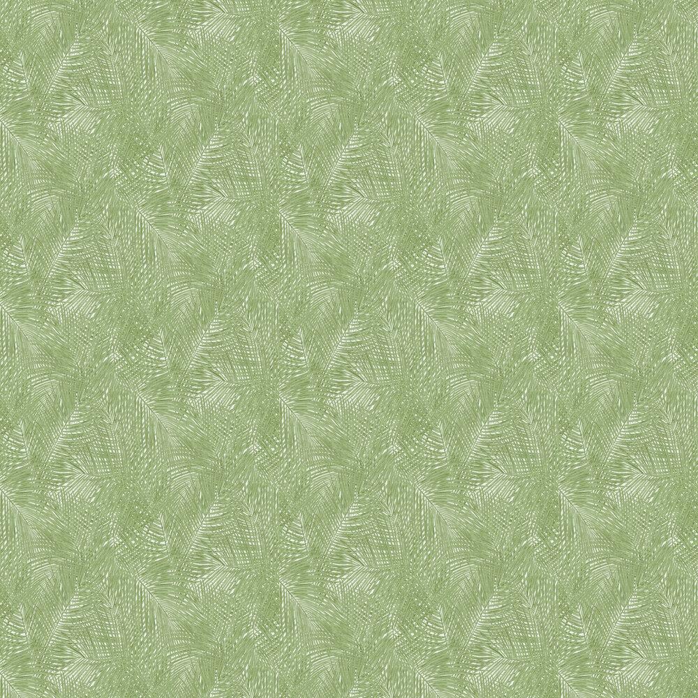 Sumatra Palm Leaf Wallpaper - Green - by Albany