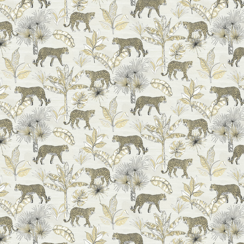 Leopard Wallpaper - Neutral - by Albany