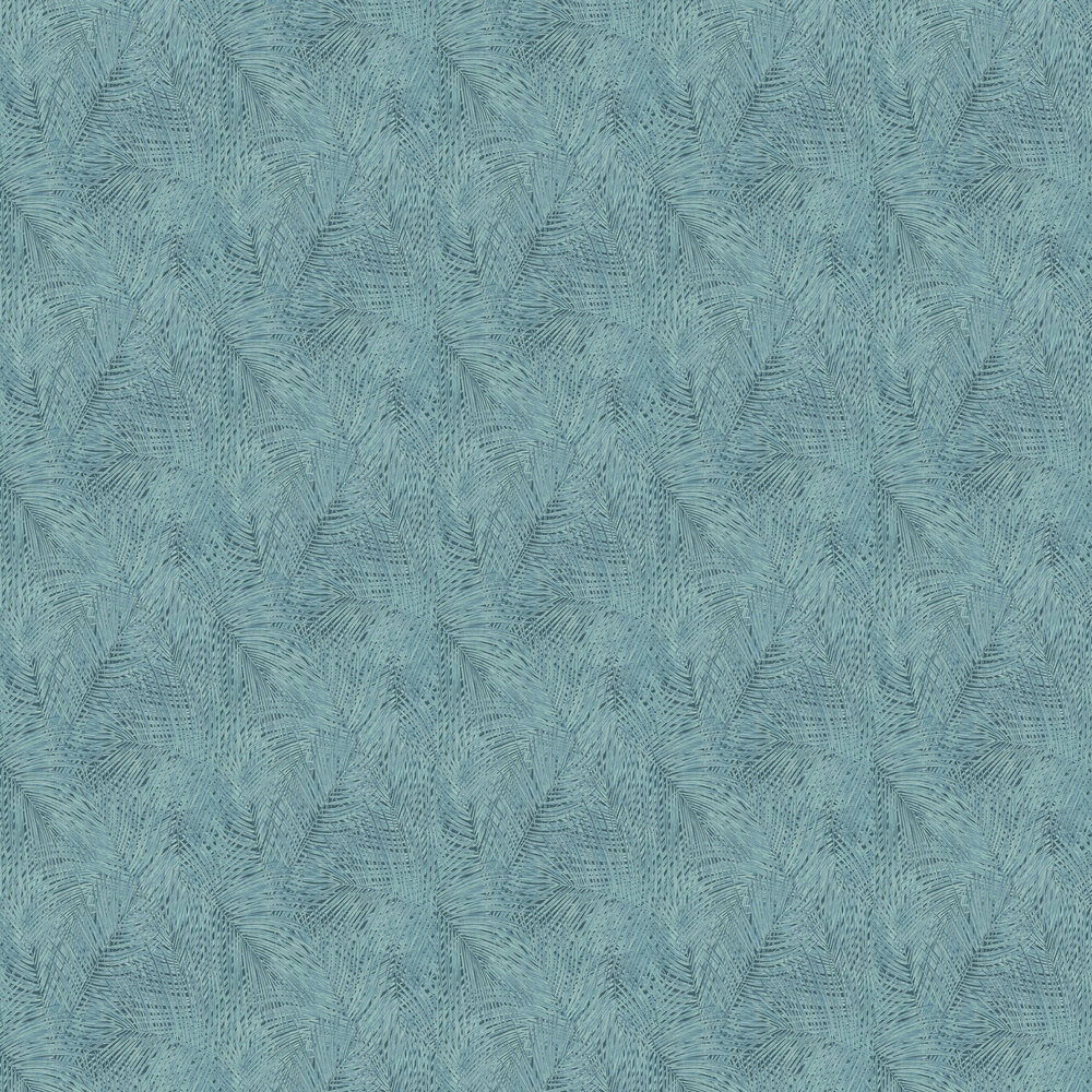 Sumatra Palm Leaf Wallpaper - Blue - by Albany