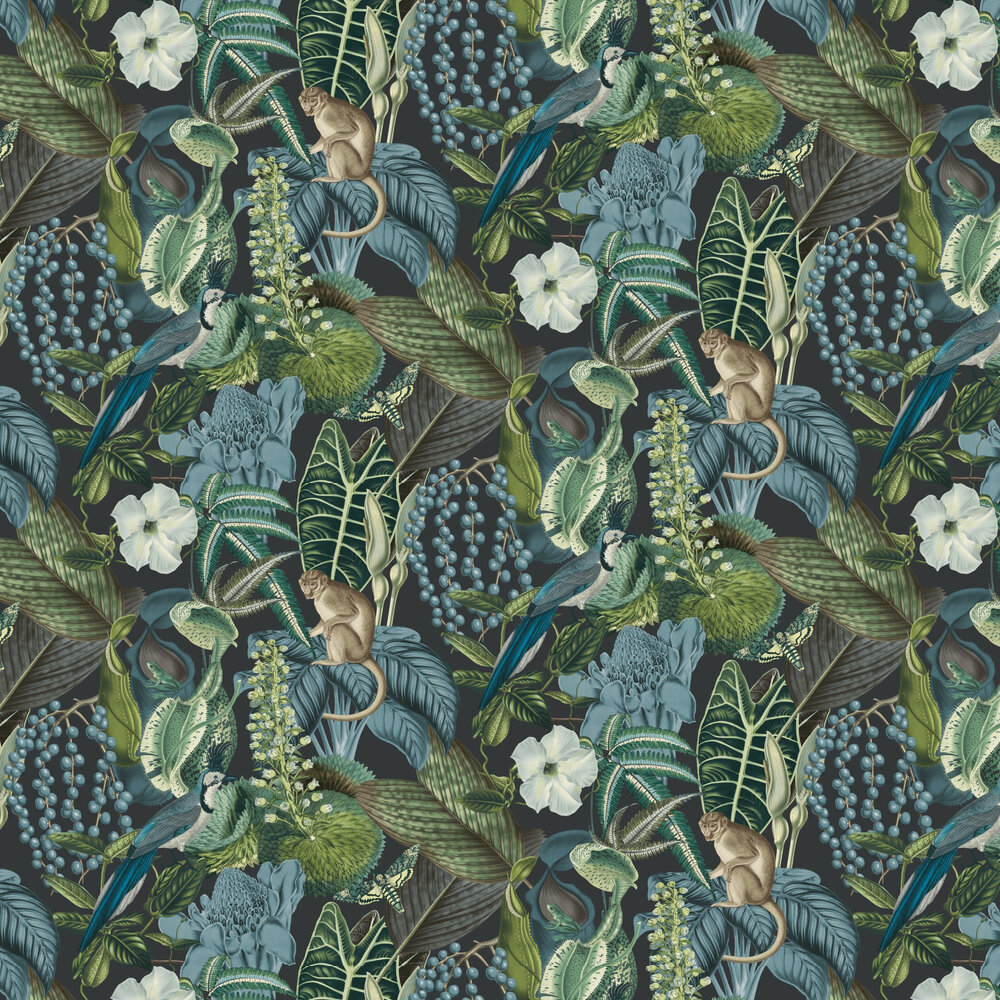 Amazon Wallpaper - Blue Multi - by Albany