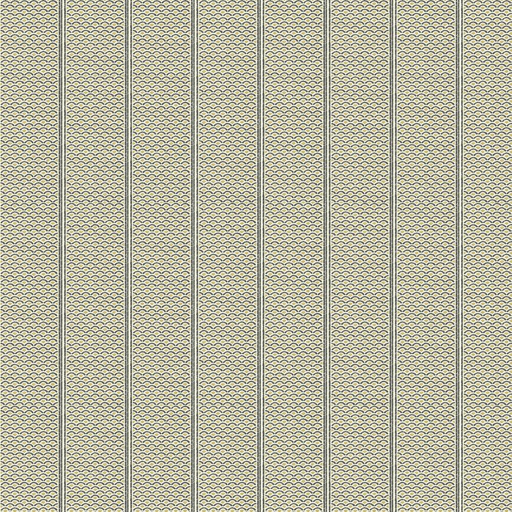 Japanese Panels Wallpaper - Black / Gold - by Florence Broadhurst