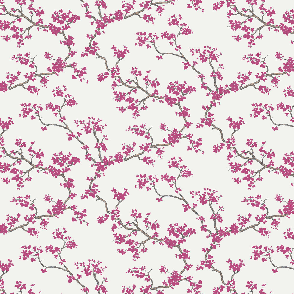 Branches Wallpaper - Cherry - by Florence Broadhurst