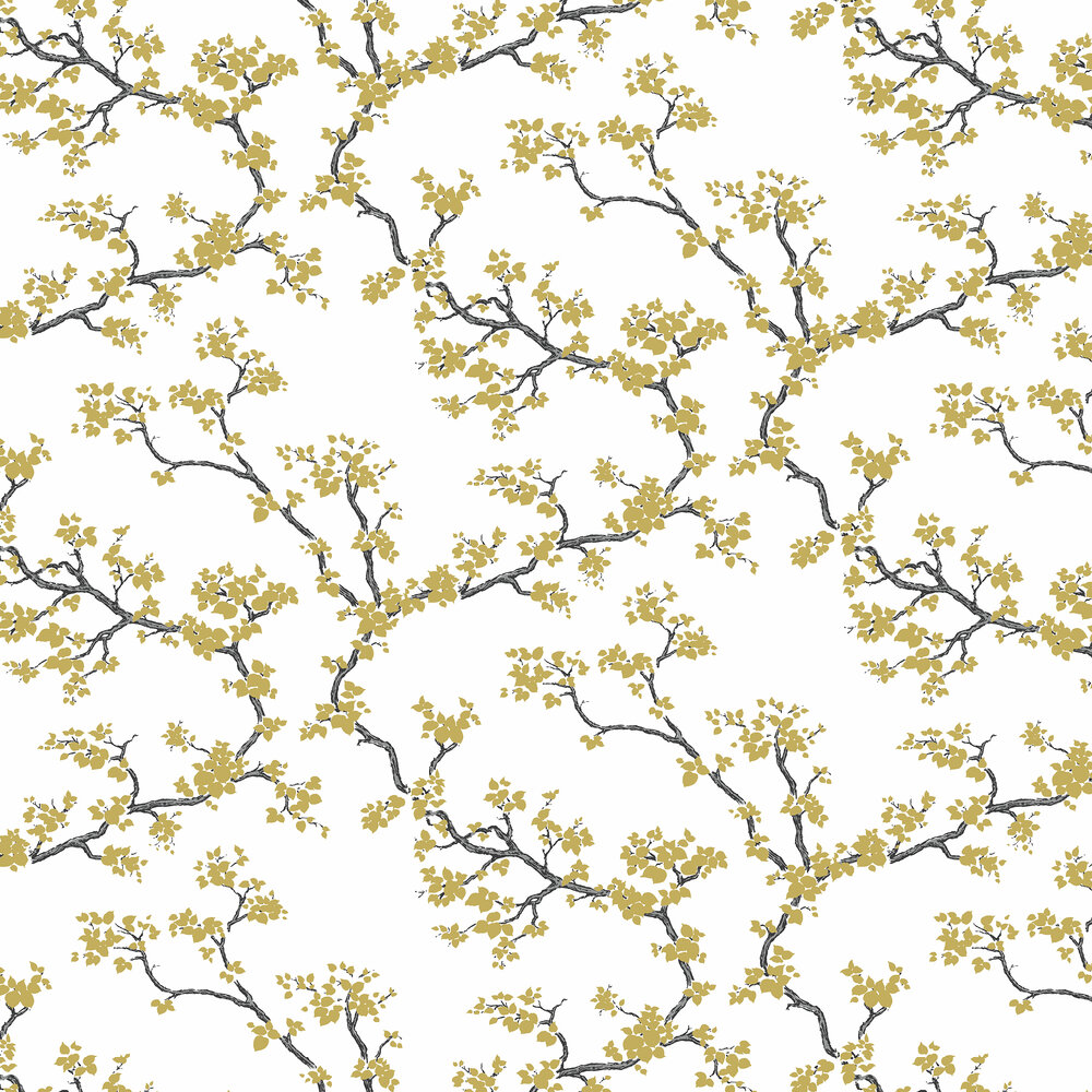 Branches Wallpaper - Gold - by Florence Broadhurst