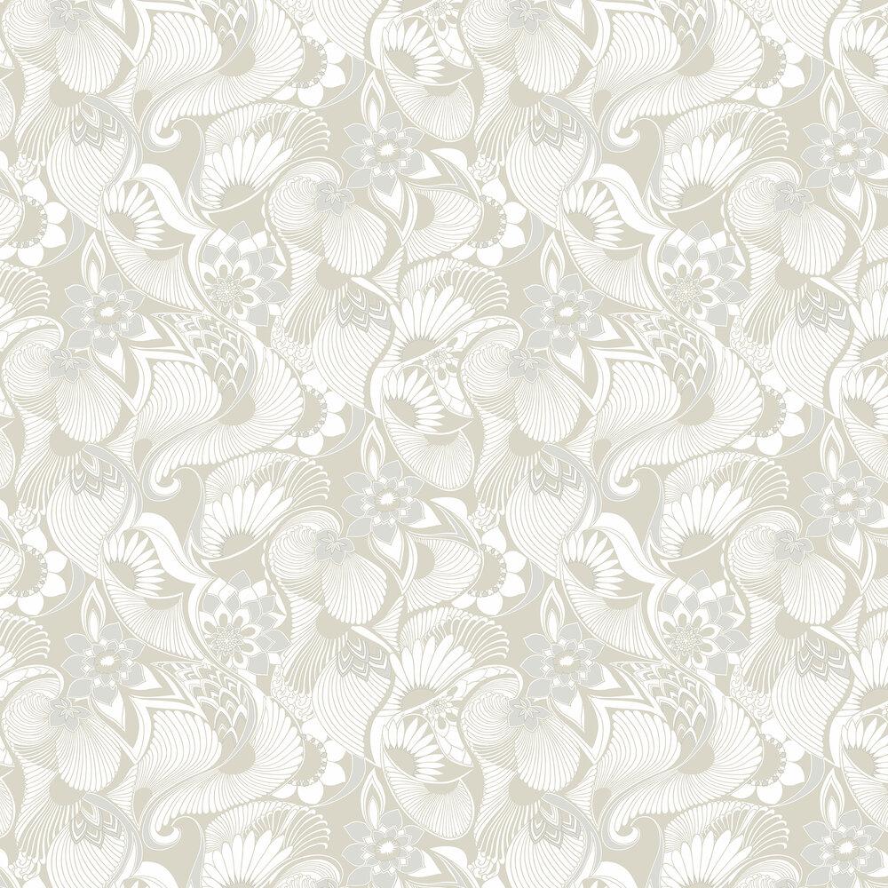 Aubrey Wallpaper - Warm Grey - by Florence Broadhurst