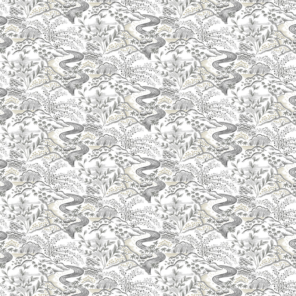 Waterfall Gardens Wallpaper - Neutral - by Florence Broadhurst