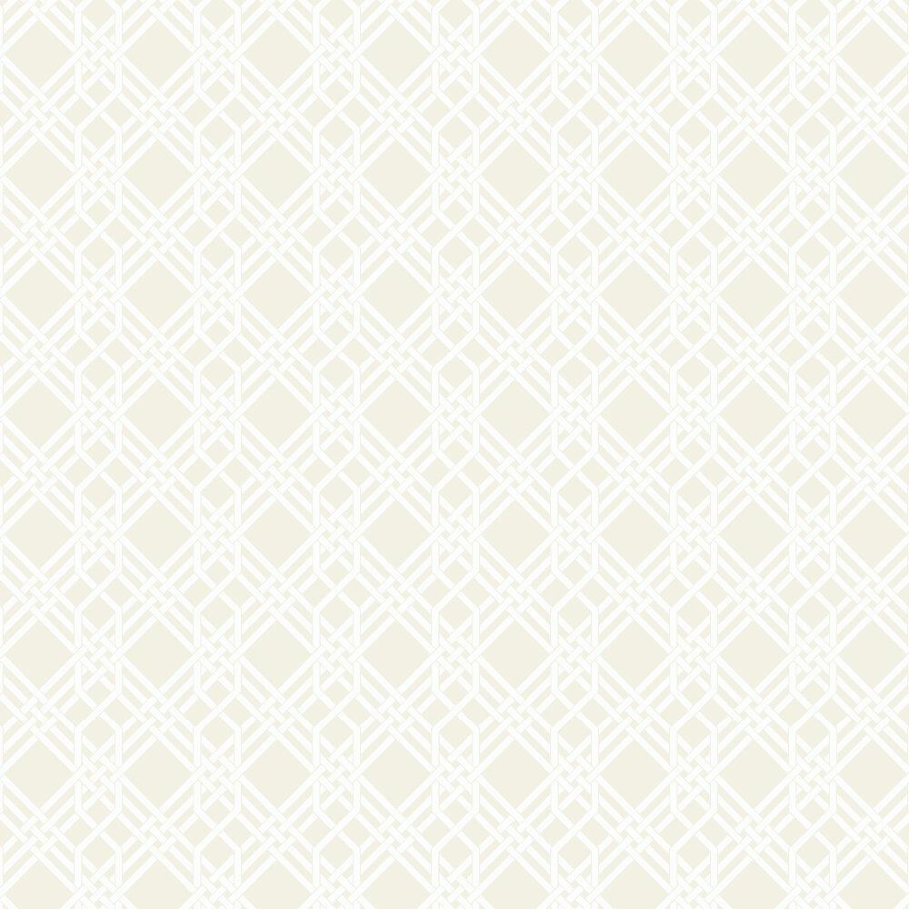 Pagoda Wallpaper - Buttermilk - by Florence Broadhurst