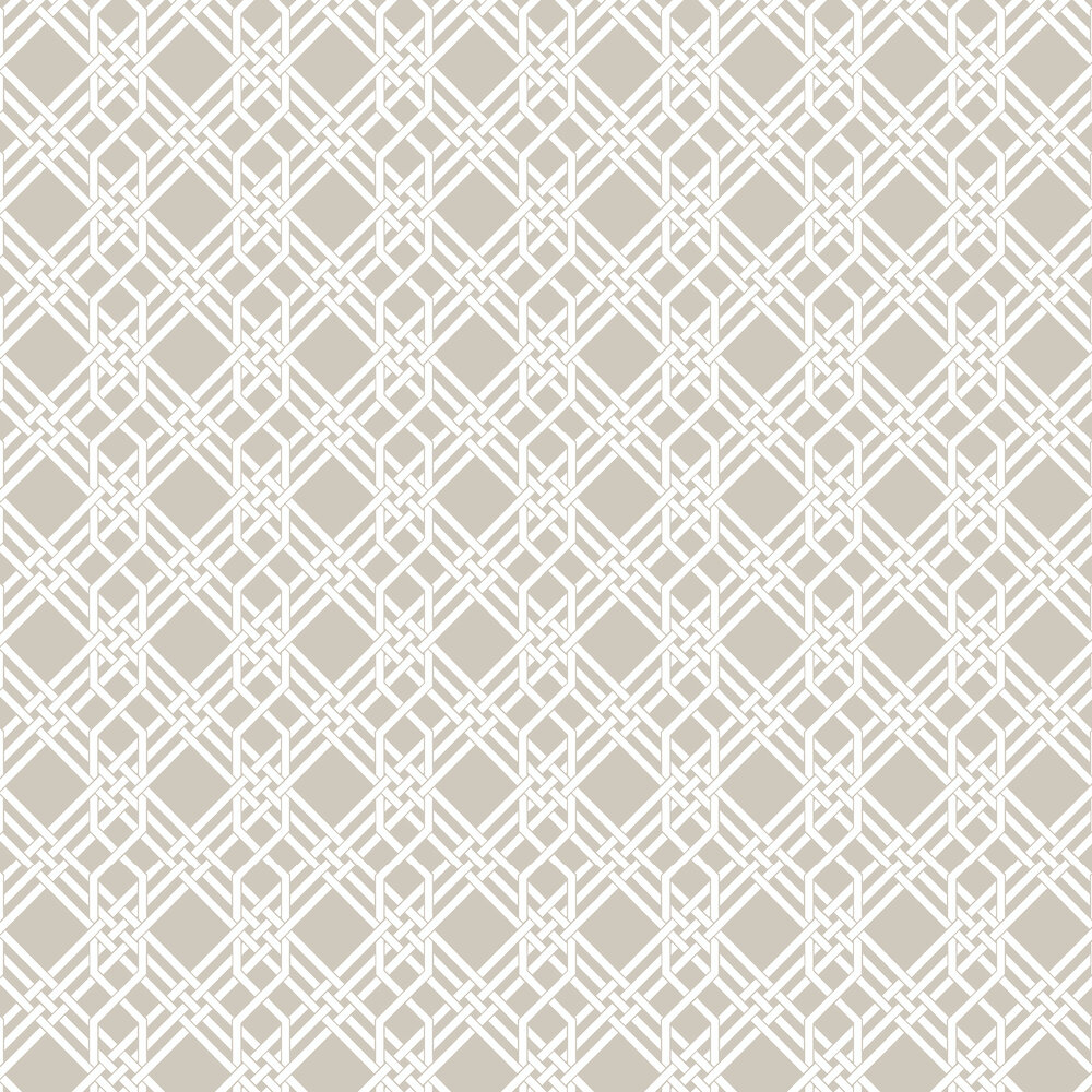 Pagoda Wallpaper - Taupe - by Florence Broadhurst
