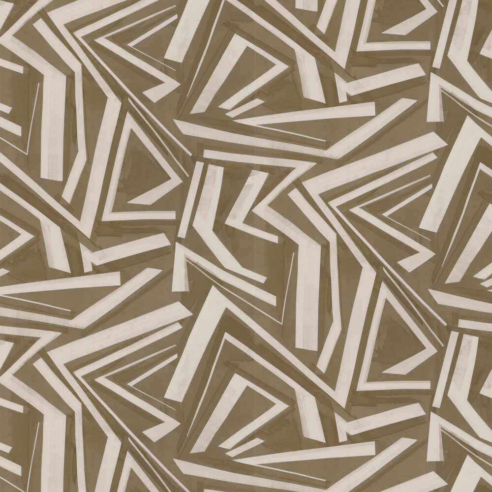 Transverse Wallpaper - Bronze - by Harlequin
